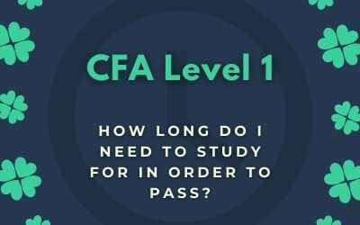 CFA Level 1 – how long you need to study for in order to pass